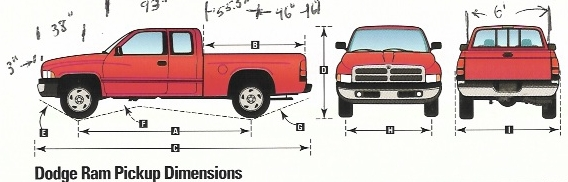 Dodge ram dimension